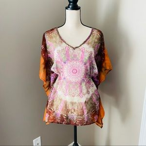 EARTHBOUND Sheer Pullover Top Small